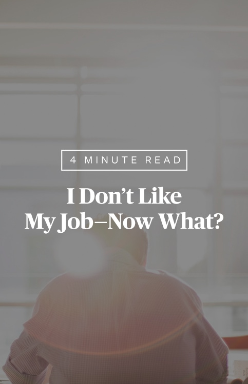 I Don't Like My Job—Now What?