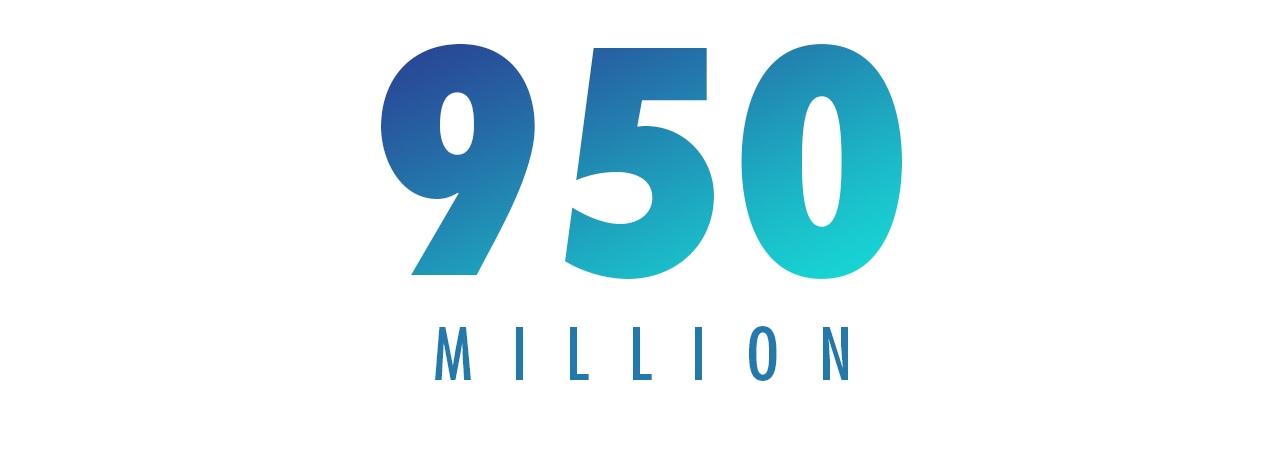 950 MILLION