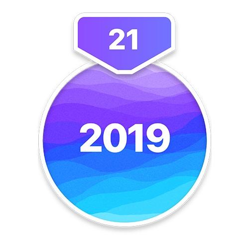 Das Abzeichen für die 21-Tage-Aufgabe für 2019