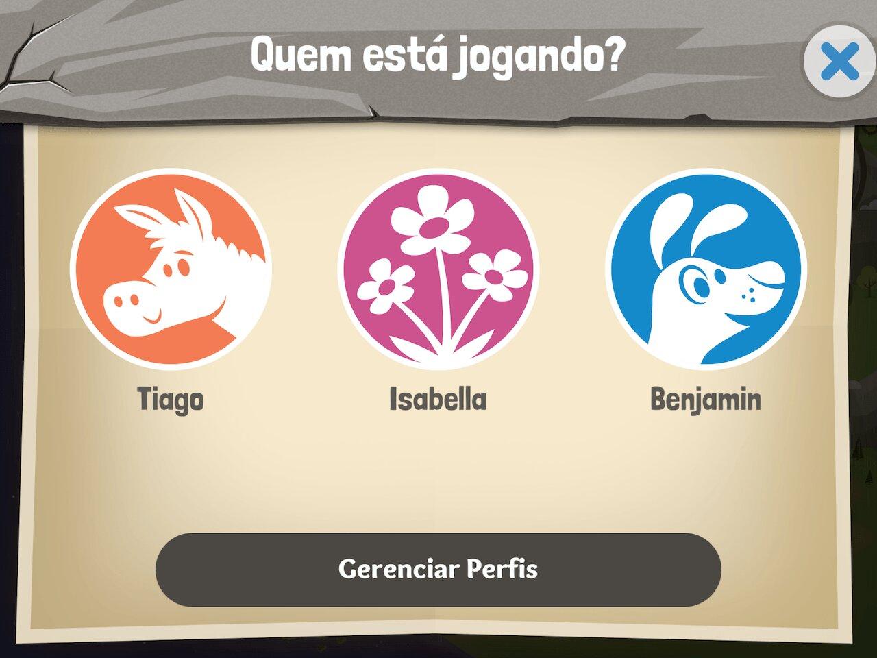 Perfis do App da Bíblia para Crianças