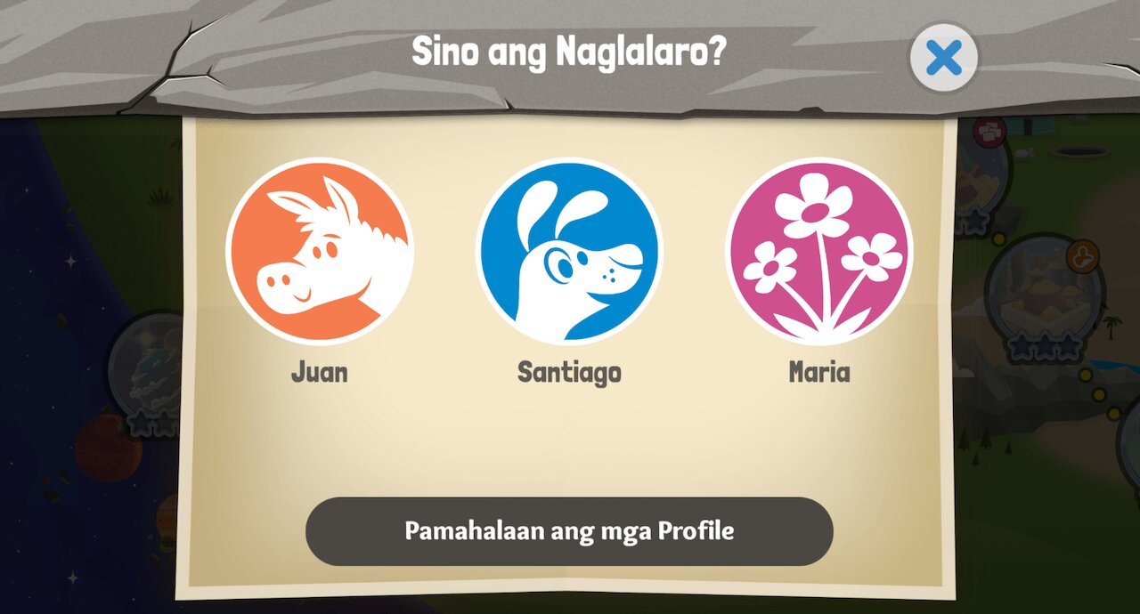 Mga Profile sa Pambatang Bible App