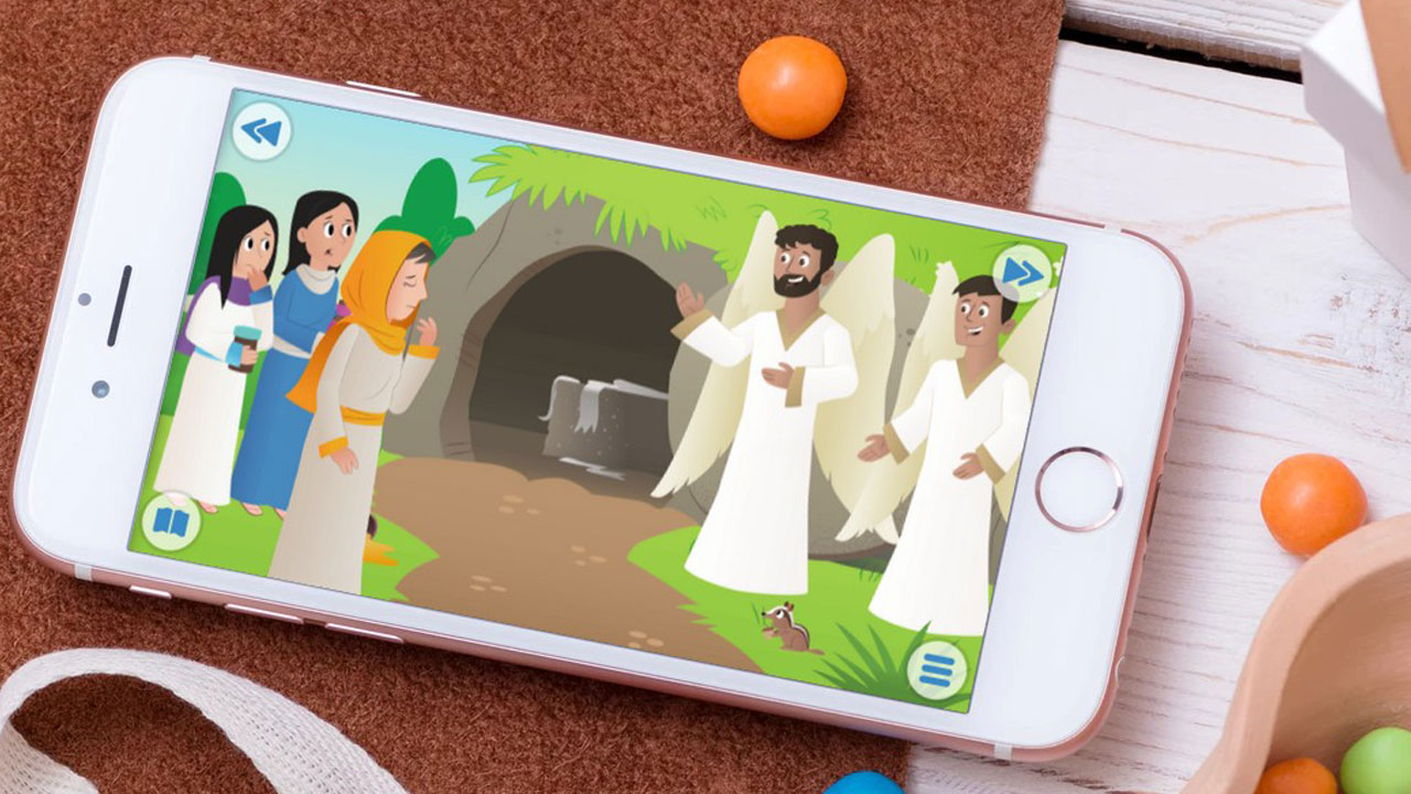 """A Happy Sunday"" on Bible App for Kids"