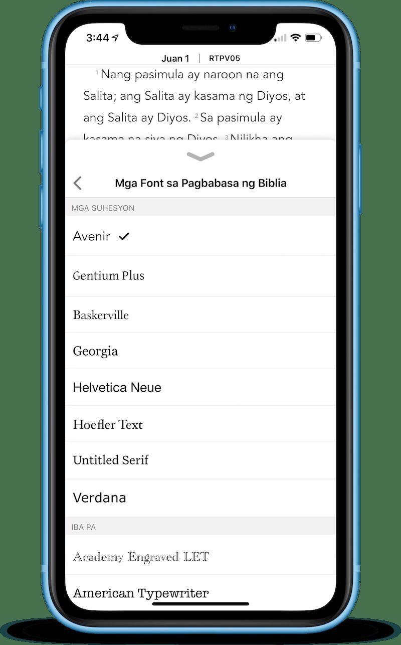Tagapili ng Font