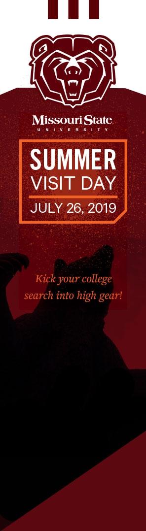 Missouri State University Summer Visit Day
