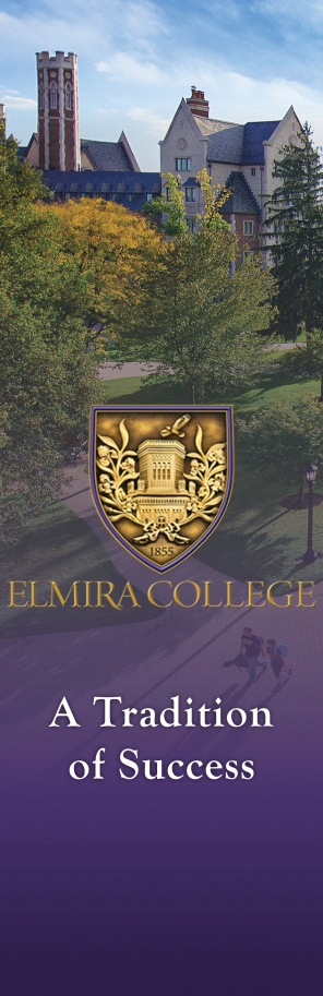 Welcome banner of campus building