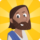 Bible App for Kids Jesus logo