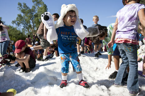 Winter in July comes to the Phoenix Zoo