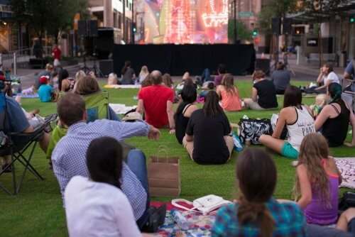 Head to City Lights Movie Nights at Patriots Park