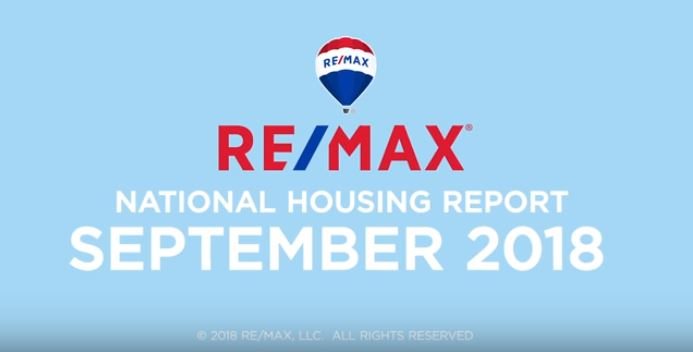 RE/MAX National Housing Report September 2018