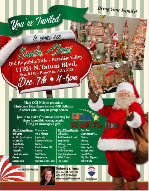 3rd Annual Santa's Sweet Shoppe and Free Santa Photo Event