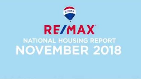 RE/MAX National Housing Report November 2018