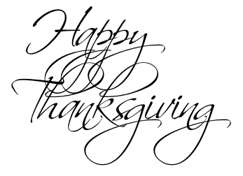Stylized Thanksgiving Writing