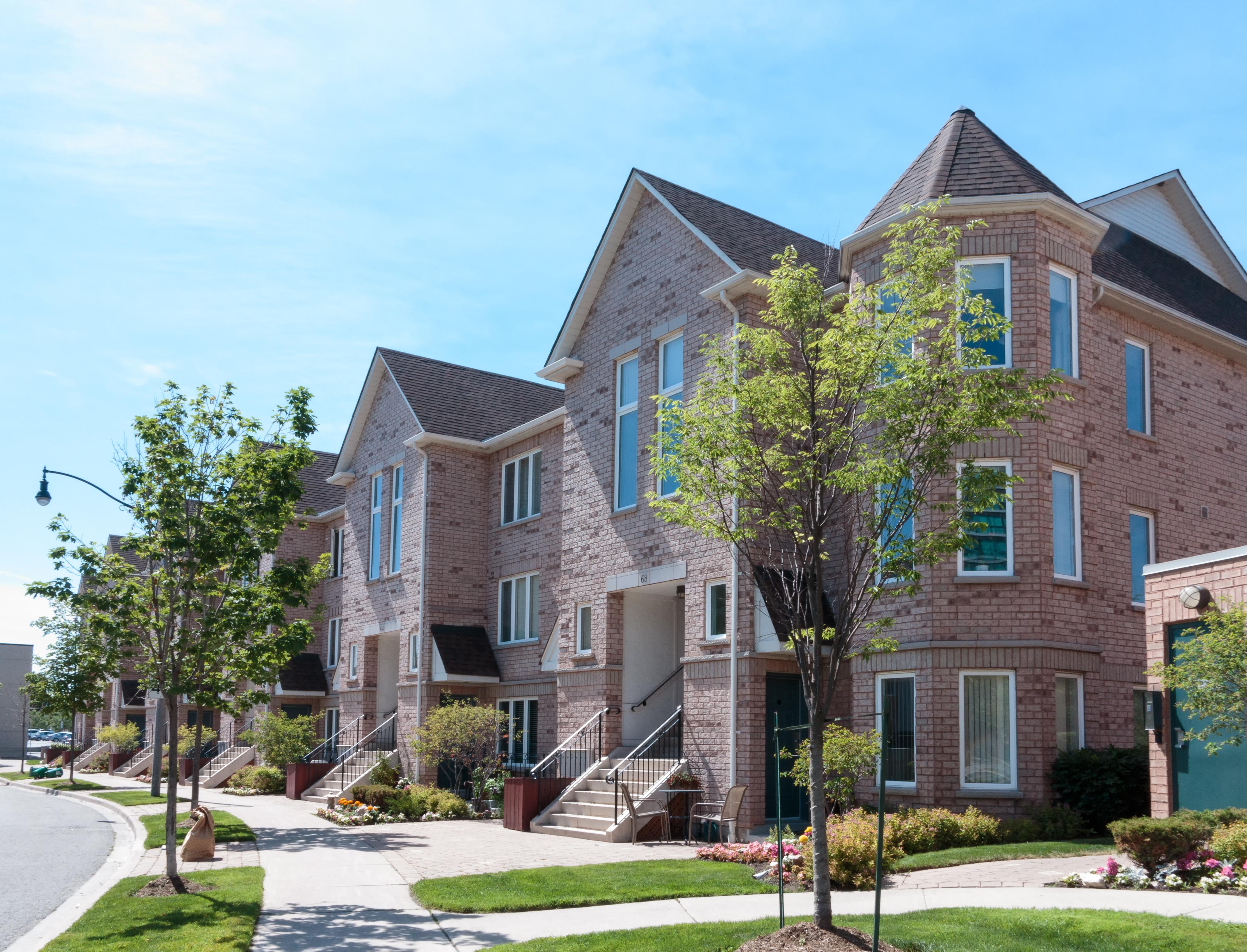 Family homes in residential neighborhood