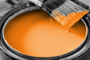 orange house paint