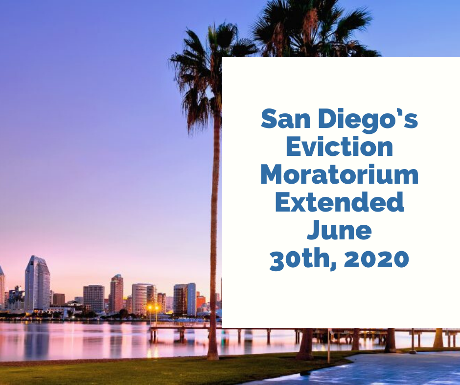 San Diego's Eviction Moratorium Extended June 30th, 2020