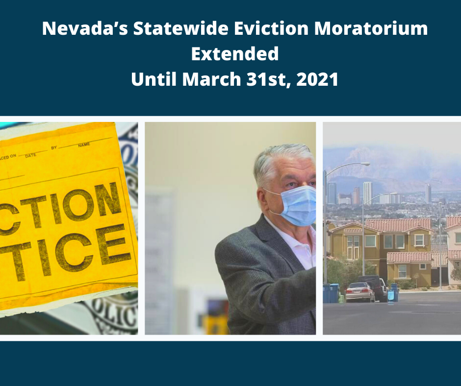 Nevada's Statewide Eviction Moratorium Extended Until March 31st, 2021