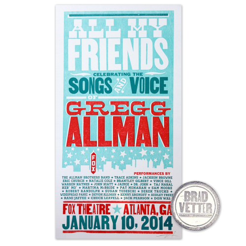 Gregg Allman All My Friends Show Poster