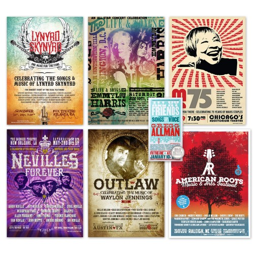 Ultimate Fan Blackbird Gig Posters Collection