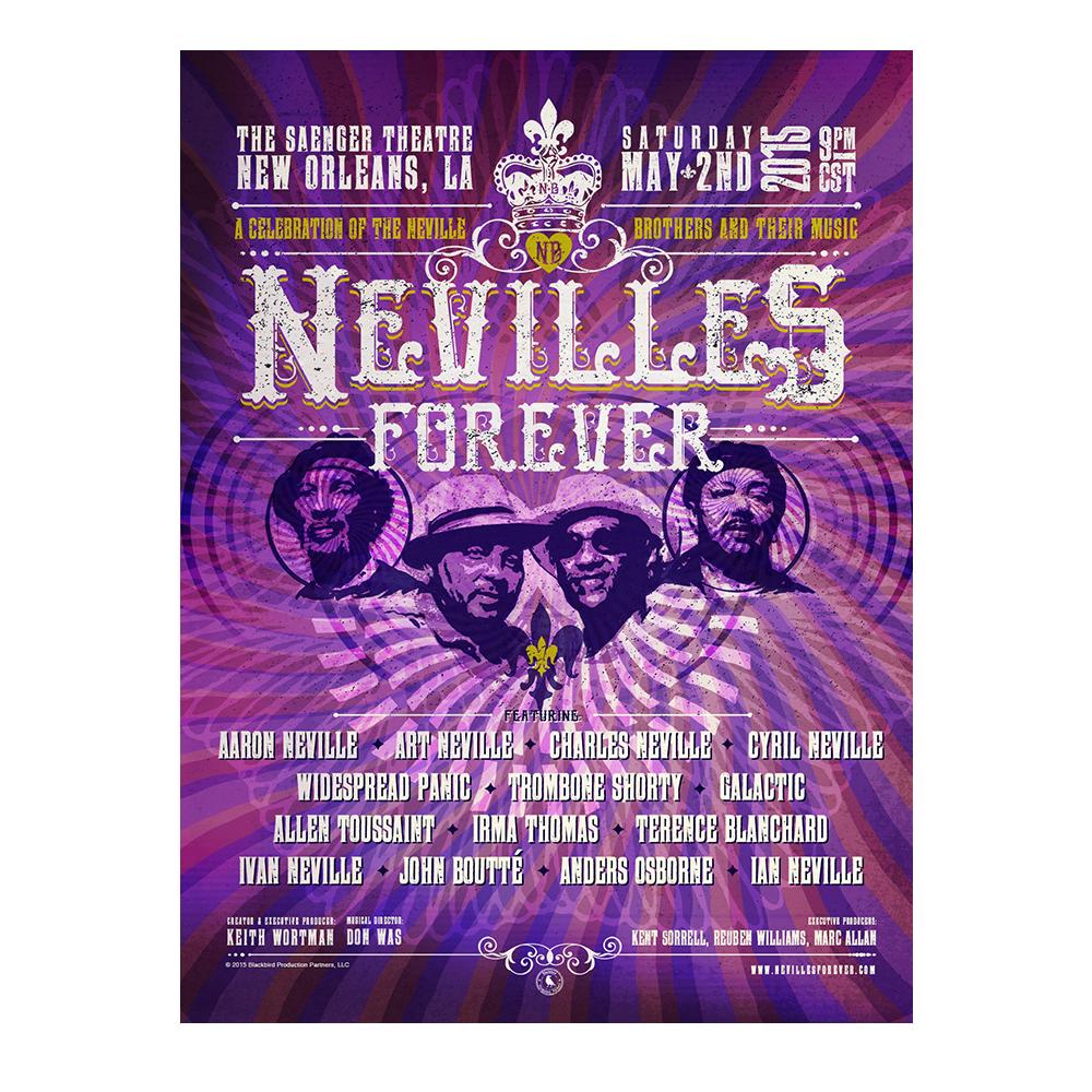 Nevilles Forever Official Concert Poster