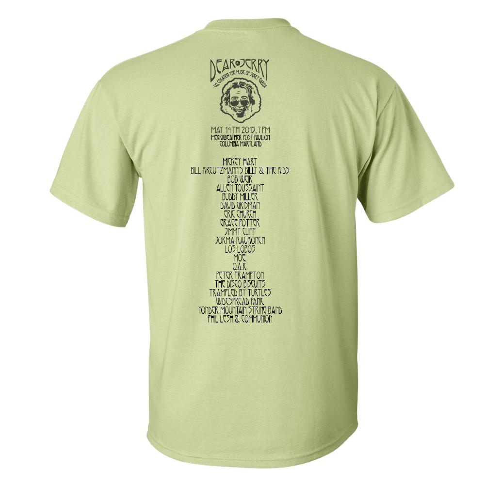 Dear Jerry Green T-shirt 2016 Version Back
