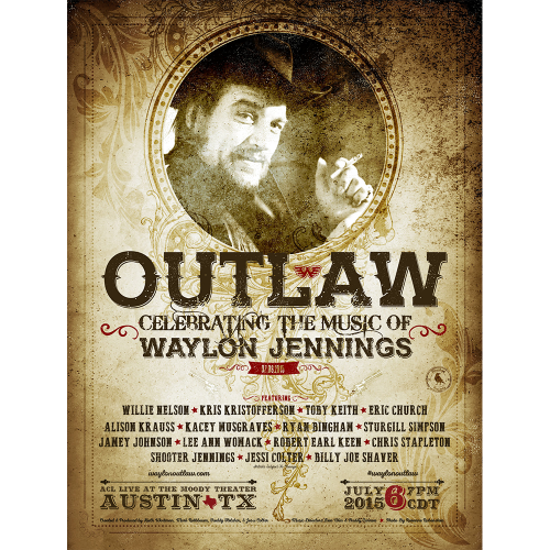 OUTLAW: CELEBRATING THE MUSIC OF WAYLON JENNINGS POSTER