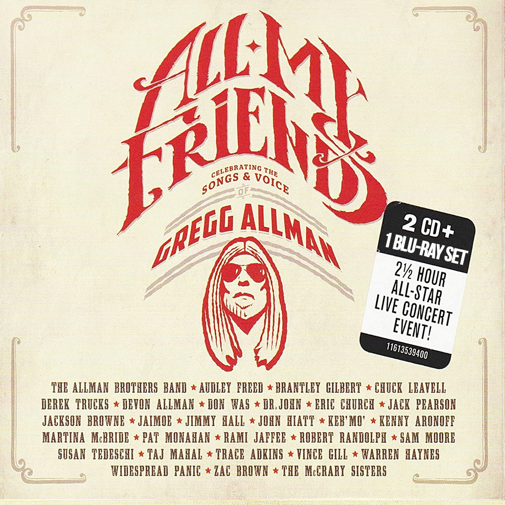 Gregg Allman All My Friends Collectable 2 CD + 1 BLU-RAY Set