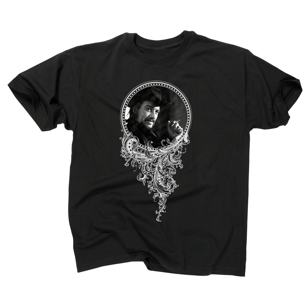 Outlaw Waylon Jennings Black T-shirt Front