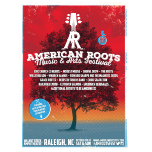 American Roots Music & Arts Festival Official Gig Poster