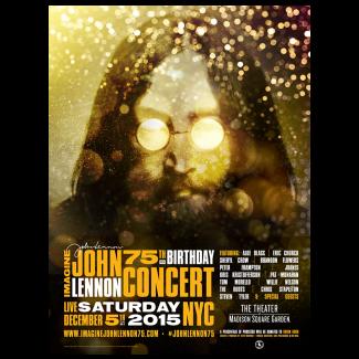 Imagine: John Lennon 75th Birthday Concert Official Gig Poster