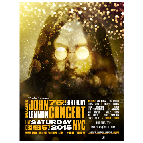 Imagine: John Lennon 75th Birthday Concert Official Gig Poster