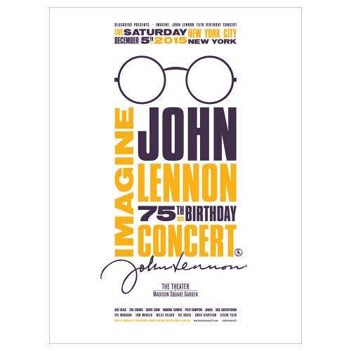 Imagine: John Lennon 75th Birthday Concert Limited Edition Poster