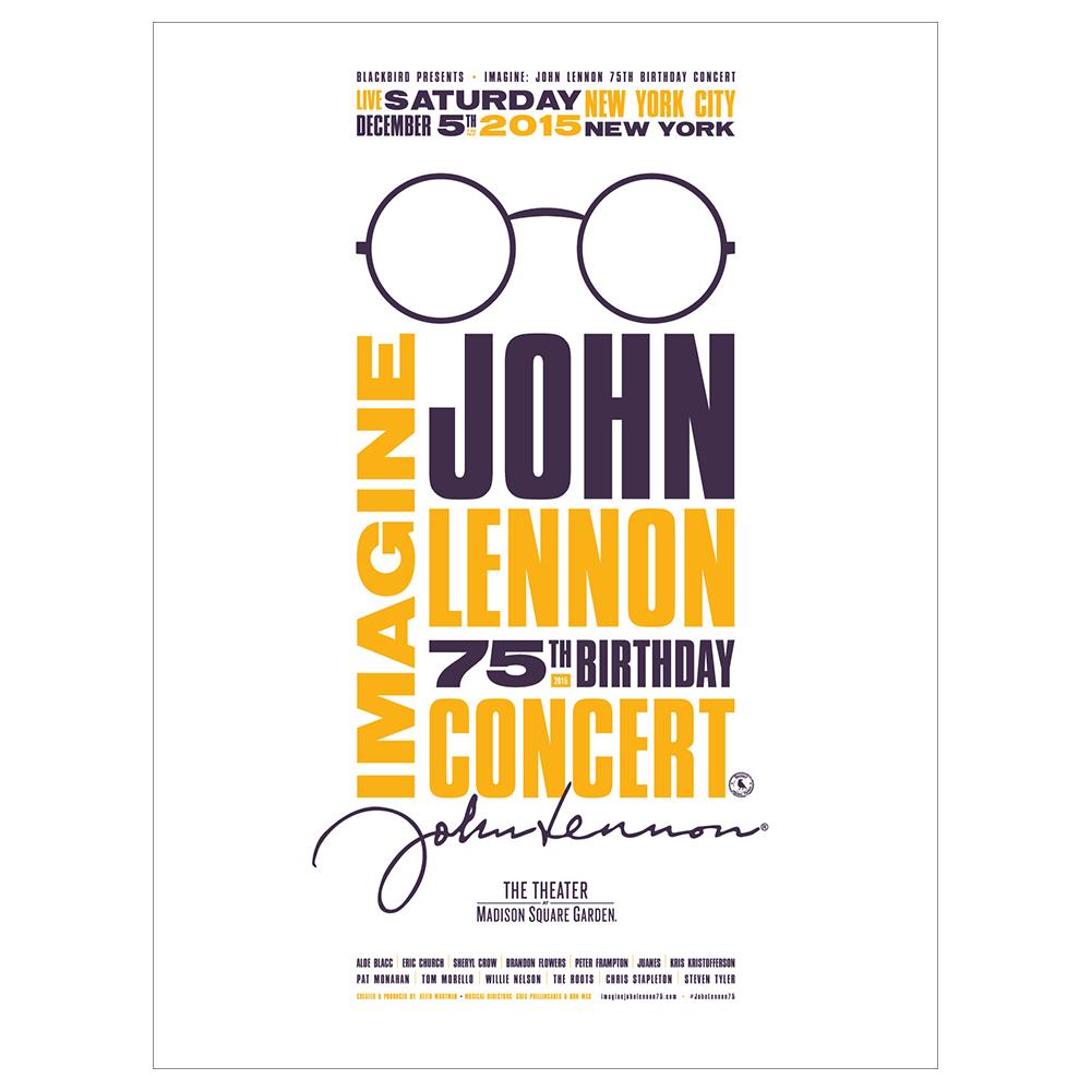 Imagine John Lennon 75th Limited Edition Gig Poster