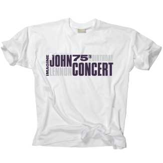 Imagine John Lennon 75 White Tee