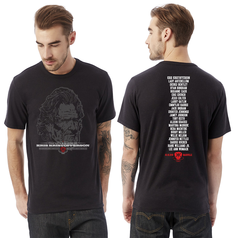 Life & Songs Of Kris Kristofferson Black Mens T-shirt