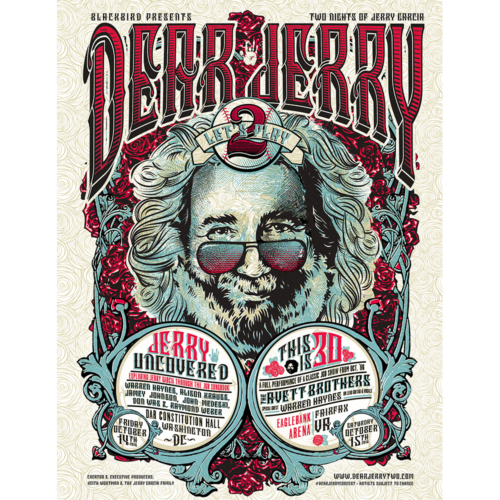 Dear Jerry Let's Play 2 Official Gig Poster