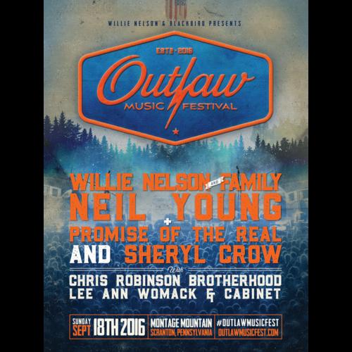 Outlaw Music Festival 2016 Poster