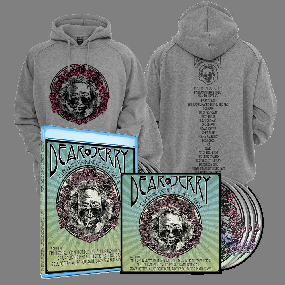 Dear Jerry: Celebrating The Music Of Jerry Garcia Hoodie Blu-ray DVD & CD