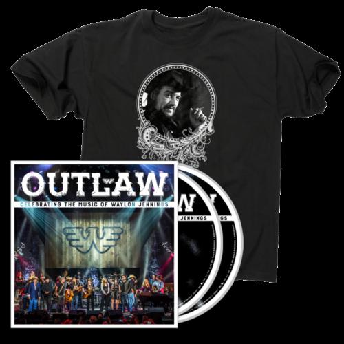 Outlaw: Waylon Jennings CD/DVD T-shirt Bundle