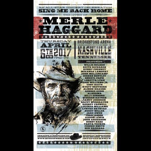 Music Of Merle Haggard Screen Printed & Numbered Poster