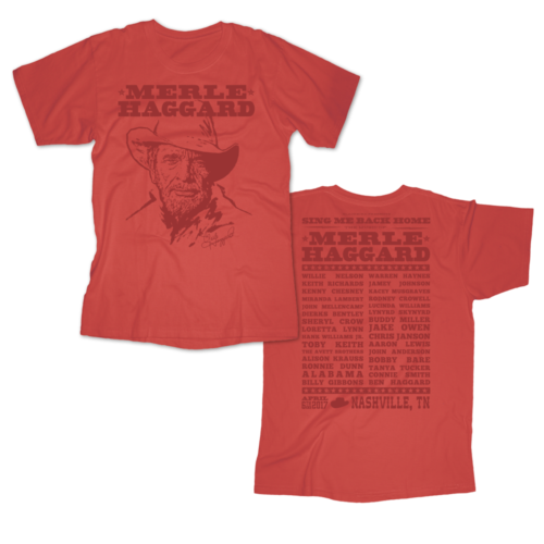 Music Of Merle Haggard Red T-Shirt