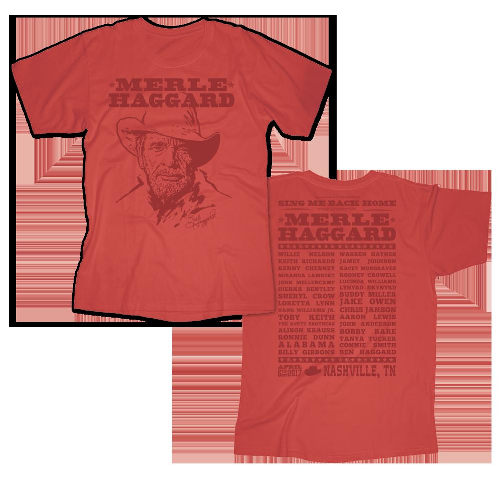 Music Of Merle Haggard Red T-Shirt