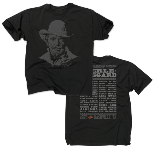Music Of Merle Haggard Black T-Shirt