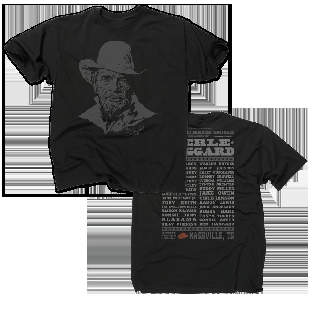 Music Of Merle Haggard Black T-Shirt
