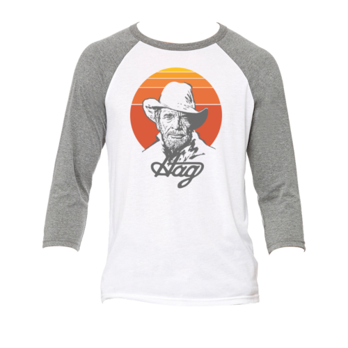 Music Of Merle Haggard Retro Baseball T-Shirt