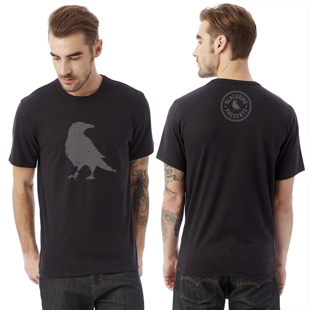 Blackbird Black Distressed Tee