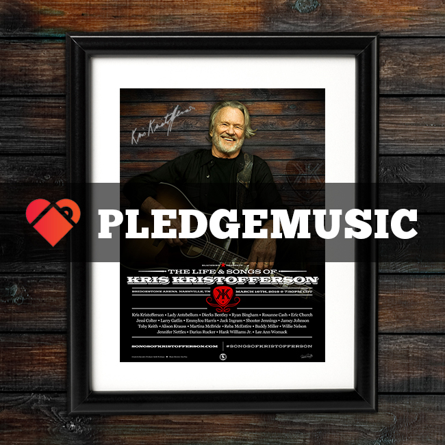 Life & Songs of Kris Kristofferson Pledge