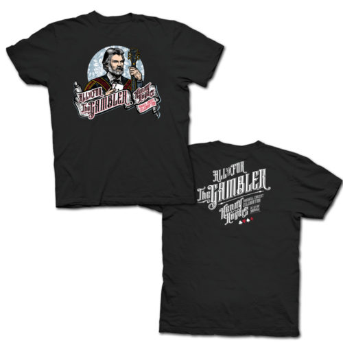 kenny rogers men's black t-shirt