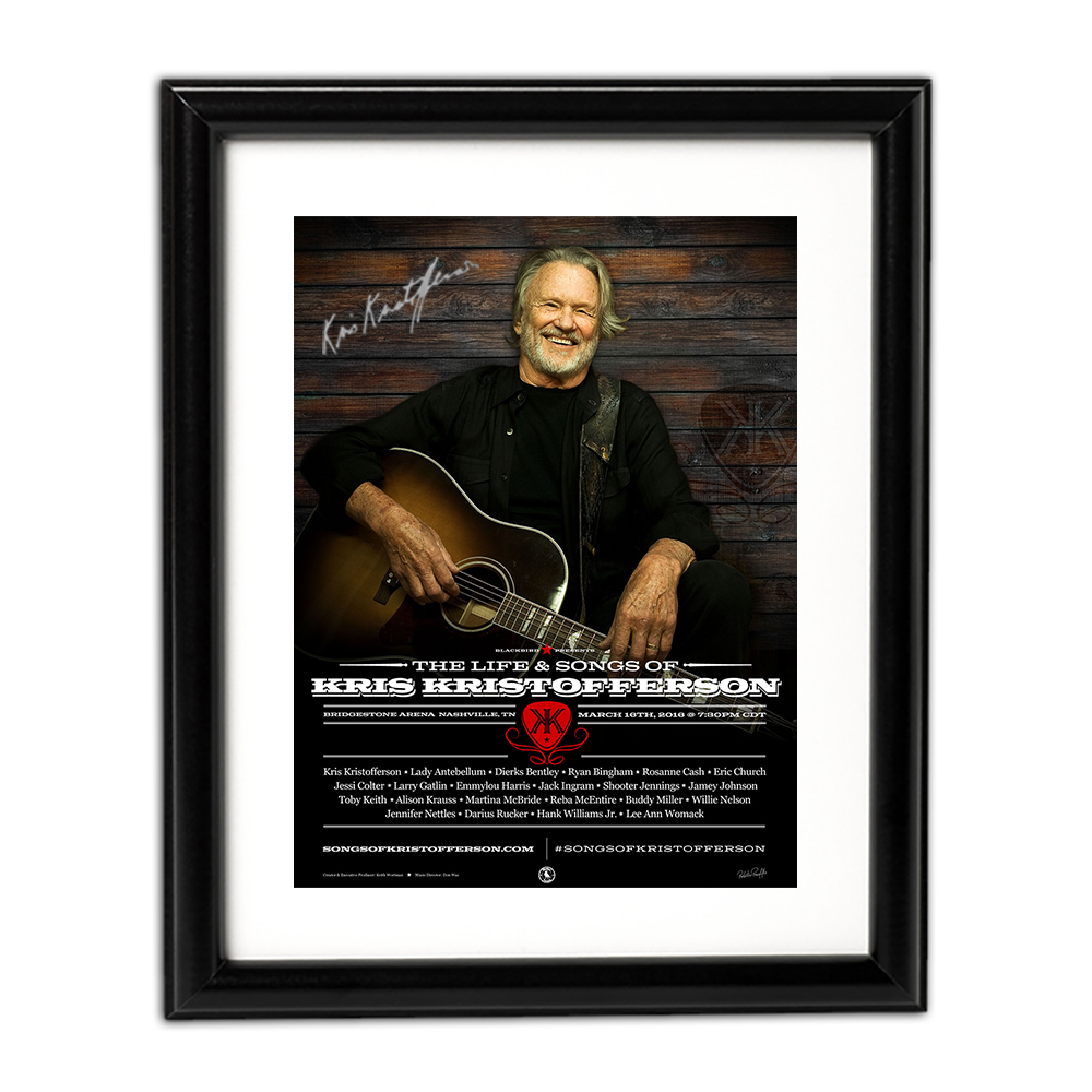 kris kristofferson signed poster