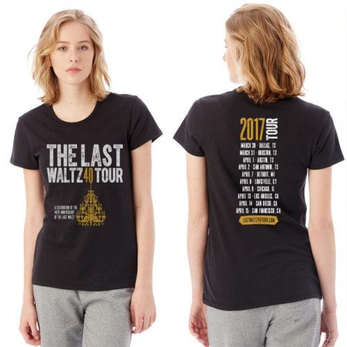 last waltz 40 women's tee
