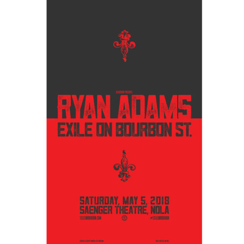 exile on bourbon st poster